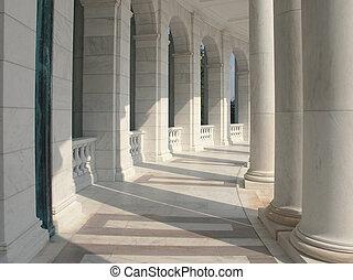 mármol, columnas