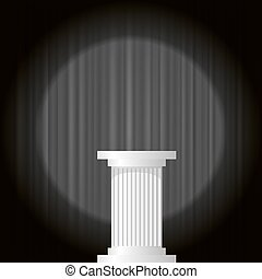 mármore branco, grego, coluna
