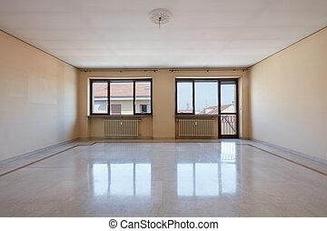 márvány, nappali, üres, emelet