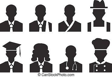 más, empresa / negocio, trabajo, picture., avatar, hombre, perfil, abogado