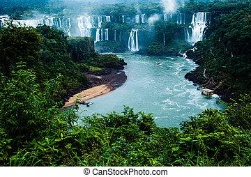 más grande, serie, brasileño, bajas, iguassu, cascadas,...