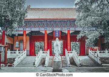 """más grande, templo, xu, """"big, beijing, inscripción, china., ..."""