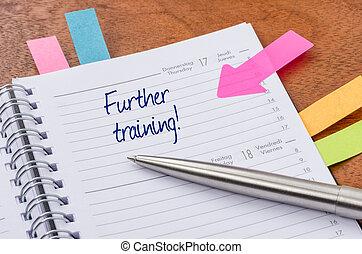 más lejos, entrenamiento, planificador, diario, entrada