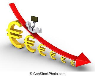 más pequeño, conseguir, gráfico, euros, descendente, hombre...