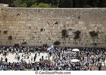 más, phyla, pared, uno, su, familias, niños, judío, sagrado...