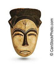 máscara, africano