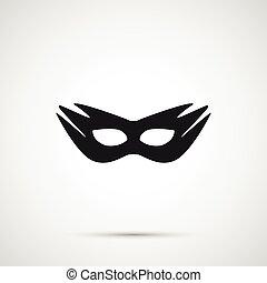 máscara, aislado, sexo, vector, plano de fondo, blanco