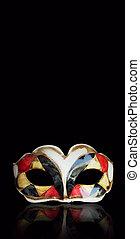 máscara, arlequín