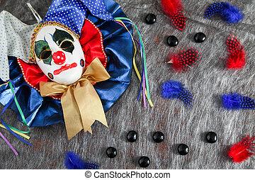 máscara, carnaval, arlequín
