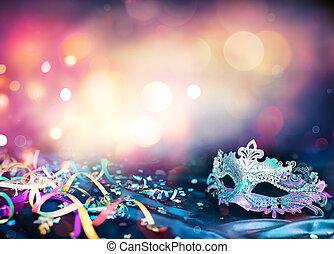 máscara, carnaval, flámulas