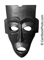 máscara de madera, asiático