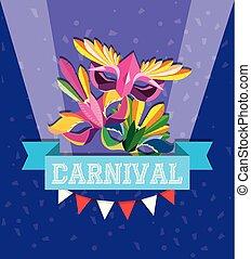 máscara, diseño, carnaval
