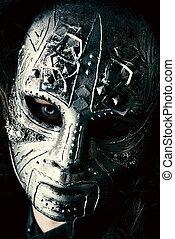 máscara, ferro