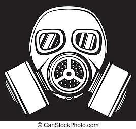 máscara gás, (army, gás, mask)