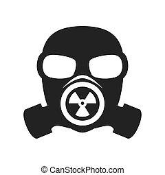 máscara gás, nuclear