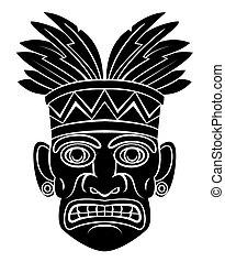máscara, hawai
