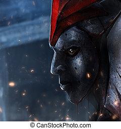 máscara, hierro