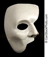 máscara, mitad