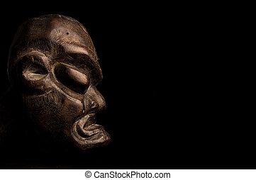 máscara, sobre, experiência preta, africano