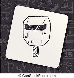 máscara soldadura, garabato