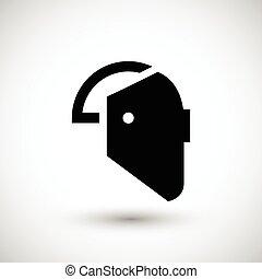máscara soldadura, icono