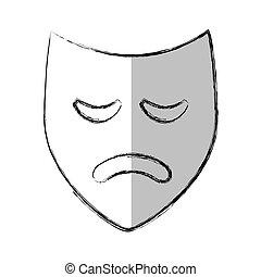 máscara teatro, clássicas, ícone