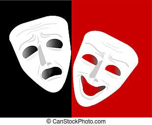 máscara teatro