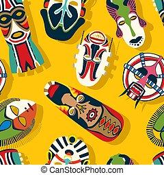 máscara tribal, étnico, 2