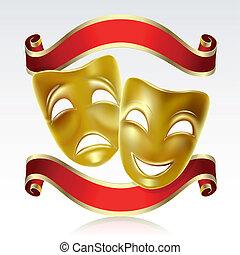 máscaras, teatral