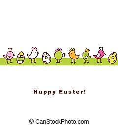 másol, húsvét, kártya, hely