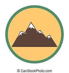 máximos apogeos de montaña, con, nieve