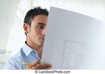 mâle, architecte