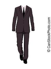 mâle, costume, éléments conception