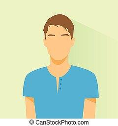mâle, désinvolte, avatar, profil, portrait, icône, personne, figure, silhouette