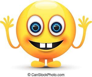 mâle, dents, emoji