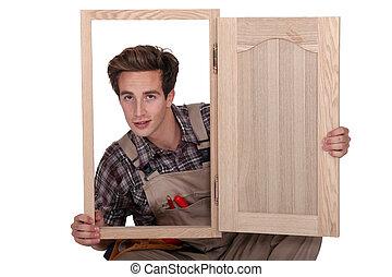 mâle, fabricant, cabinet