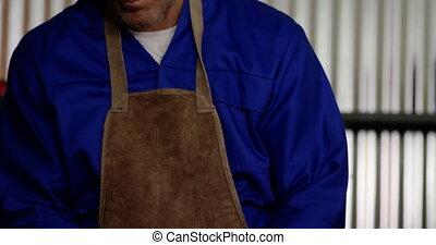 mâle, fonctionnement, réparation, mécanicien, 4k, garage