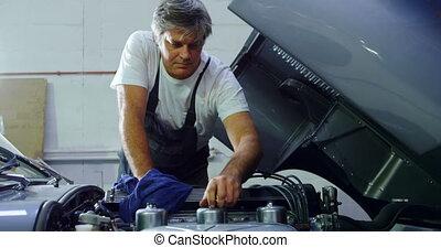 mâle, mécanicien voiture, 4k, entretenir