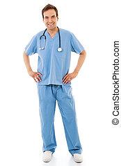 mâle, ouvrier, healthcare
