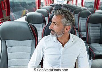 mâle, portrait, passager