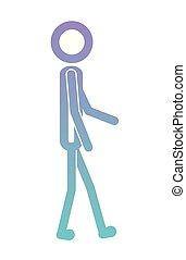 mâle, silhouette, figure, humain