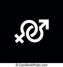 &, mâle, symbole femelle