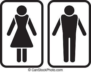 mâle, symbole., femme, &