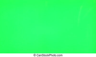 mâle, vert, écran, main, gestes