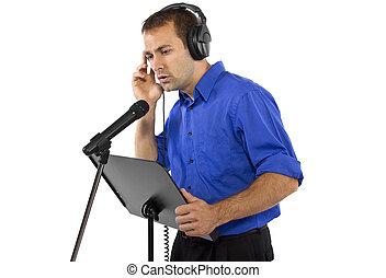 mâle, voix, sur, artiste, ou, chanteur