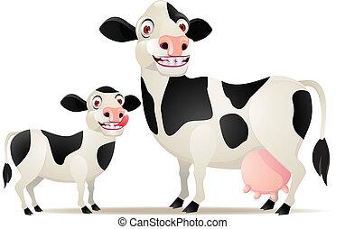 mãe bebê, vaca
