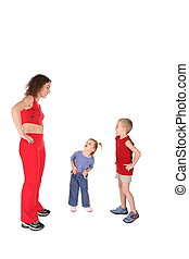 mãe crianças, treinamento