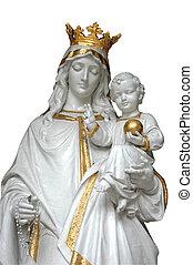 mãe, mary, &, bebê jesus