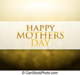 mães, luz, sinal, bokeh, dia, feliz