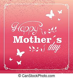 mães, vindima, saudação, dia, cartão, feliz